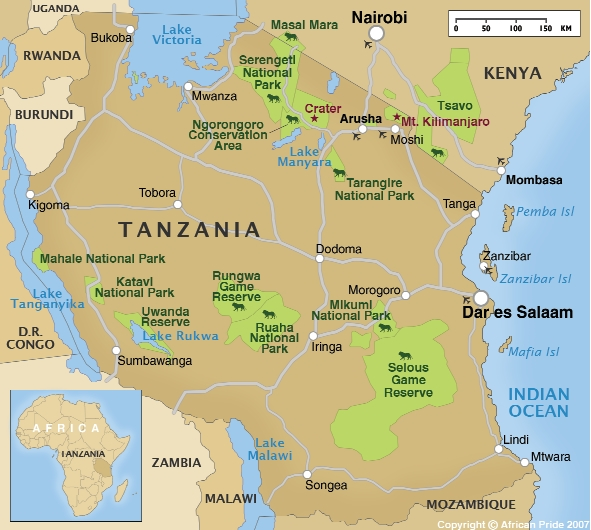 The Place Bridge To Africa Project - Where is tanzania located