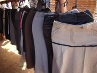 Women's skirts for sale at Memorial market